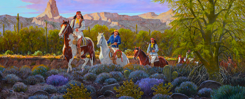 "Painting Credit: Ron Stewart ""Morning Journey"" 30X60 Oil"